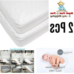Toddler Mattress Cover Waterproof Fitted Crib Protective Pad