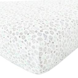 babyletto Tranquil Woods Fitted Crib Sheet, no packaging
