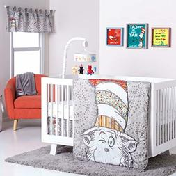 Trend Lab Dr. Seuss Peek-a-Boo Cat in The Hat 4Piece Crib Be
