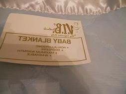 Vintage Baby Blue Baby Blanket made by VIB Baby Products It
