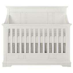 White 5 In 1 Convertible Crib Parker Winter 3 Mattress Heigh