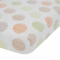 Lambs & Ivy Woodland Tales Fitted Crib Sheet - Brown, White,